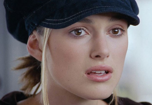 juliet kiera knightly love actually surprised shocked finds out