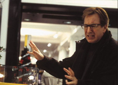 harry angry love actually alan rickman store mr bean
